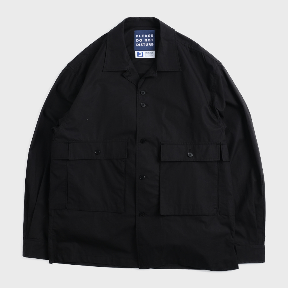 Oversiezed 5 Pocket Shirts Jacket (Black)