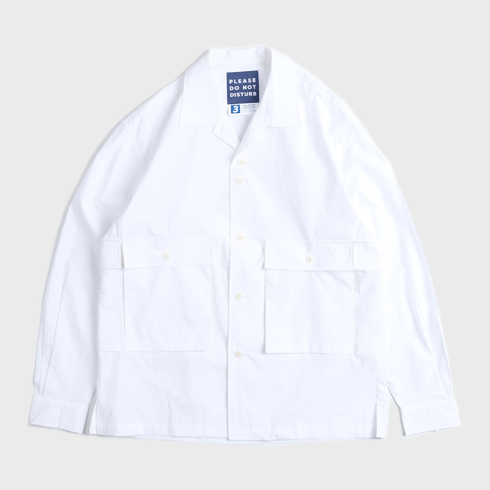 Oversiezed 5 Pocket Shirts Jacket (White)