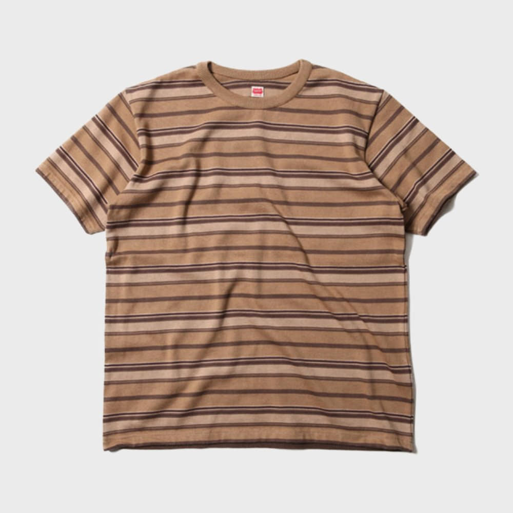 Jacquard Multi Border S/S Tee (Brown)