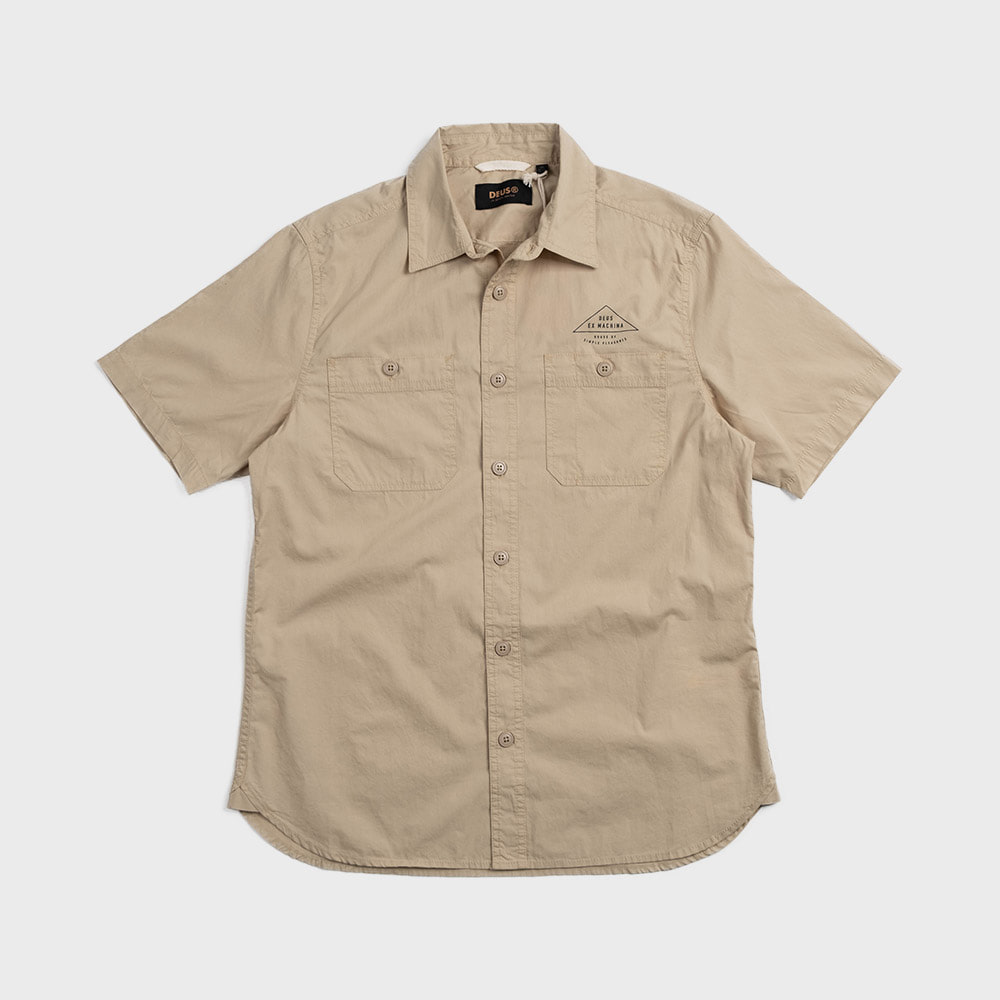 Service Poplin Shirt  (Safari)