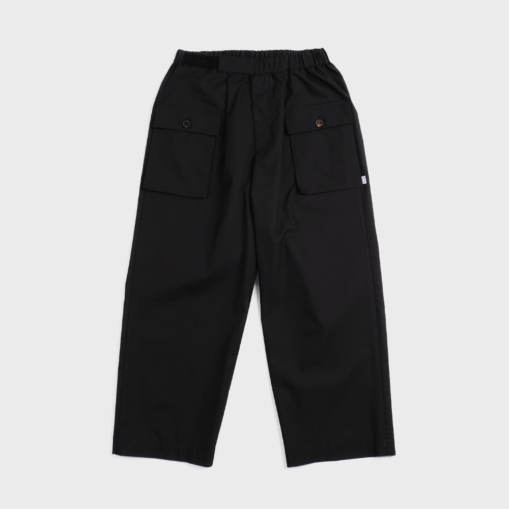 Pant For Mankind Velcro Type  (Black)