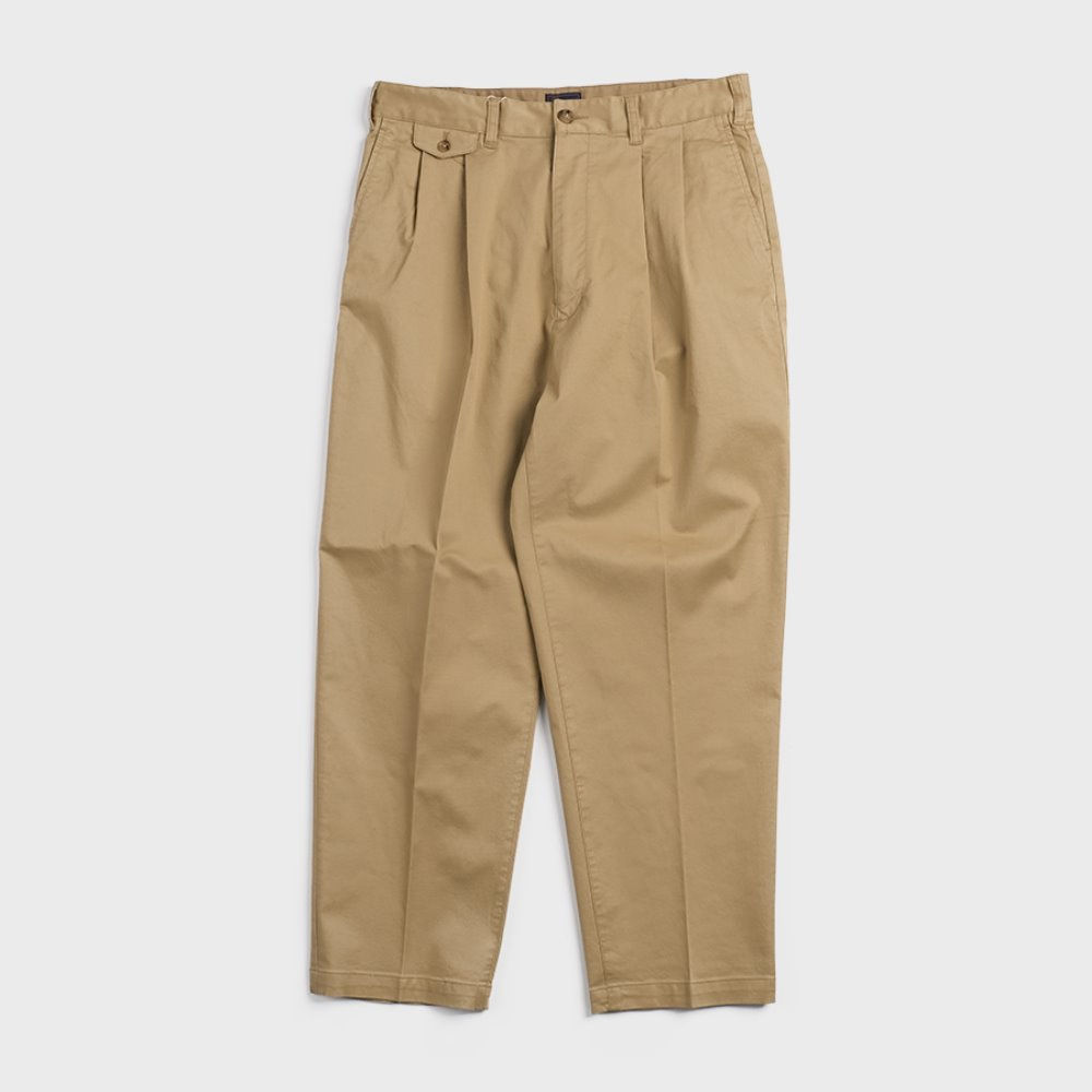 20S-PTTP1 Military Cloth 2 Tuck Tapered Pants (Beige)