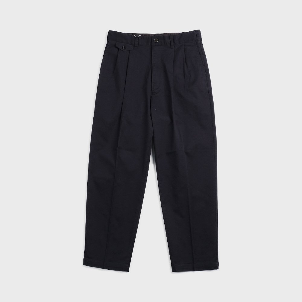 20S-PTTP1 Military Cloth 2 Tuck Tapered Pants (Navy)