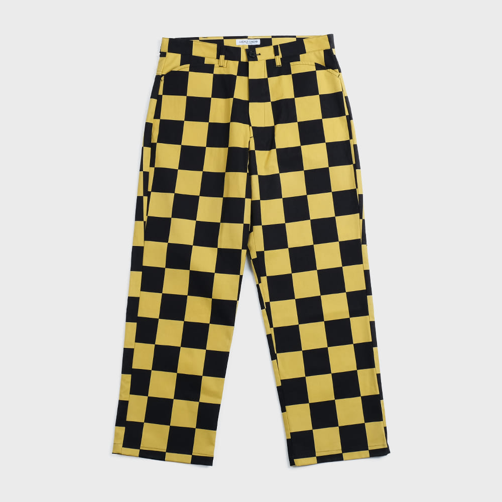 Checkerboard Skater Pants (Black & Yellow)