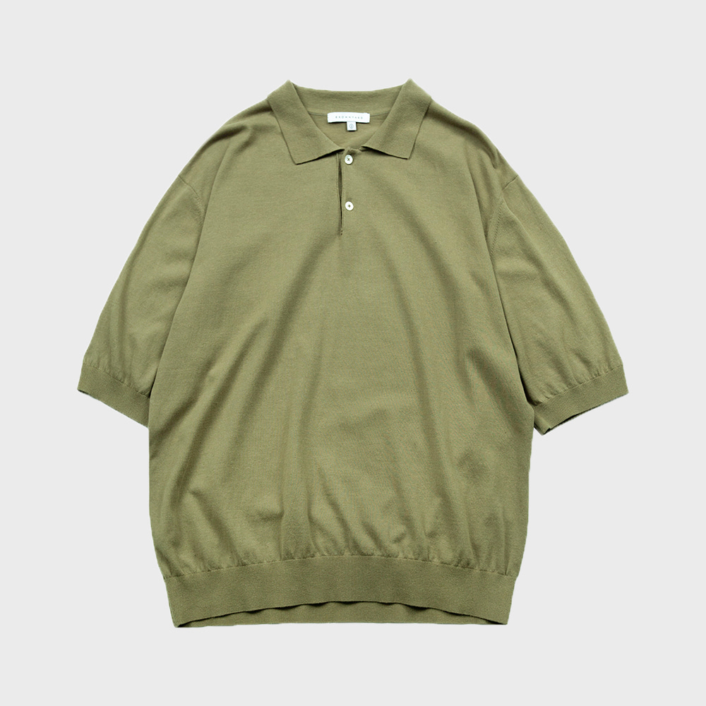 Knit Polo Shirts (Oilve)