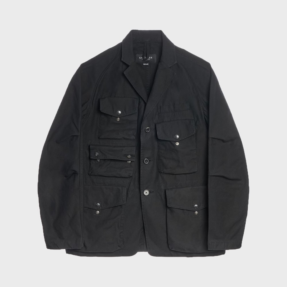 TREKKING JACKET (BLACK BACKSATIN)