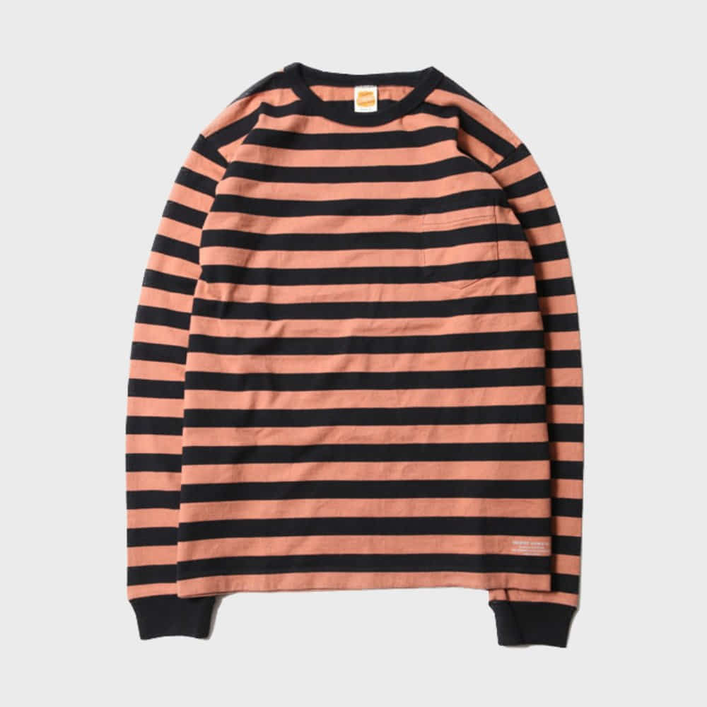 Mid Border L/S Tee (Orange)