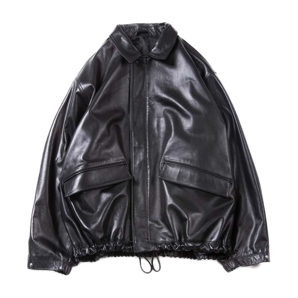 Leather Field Jacket (Black)