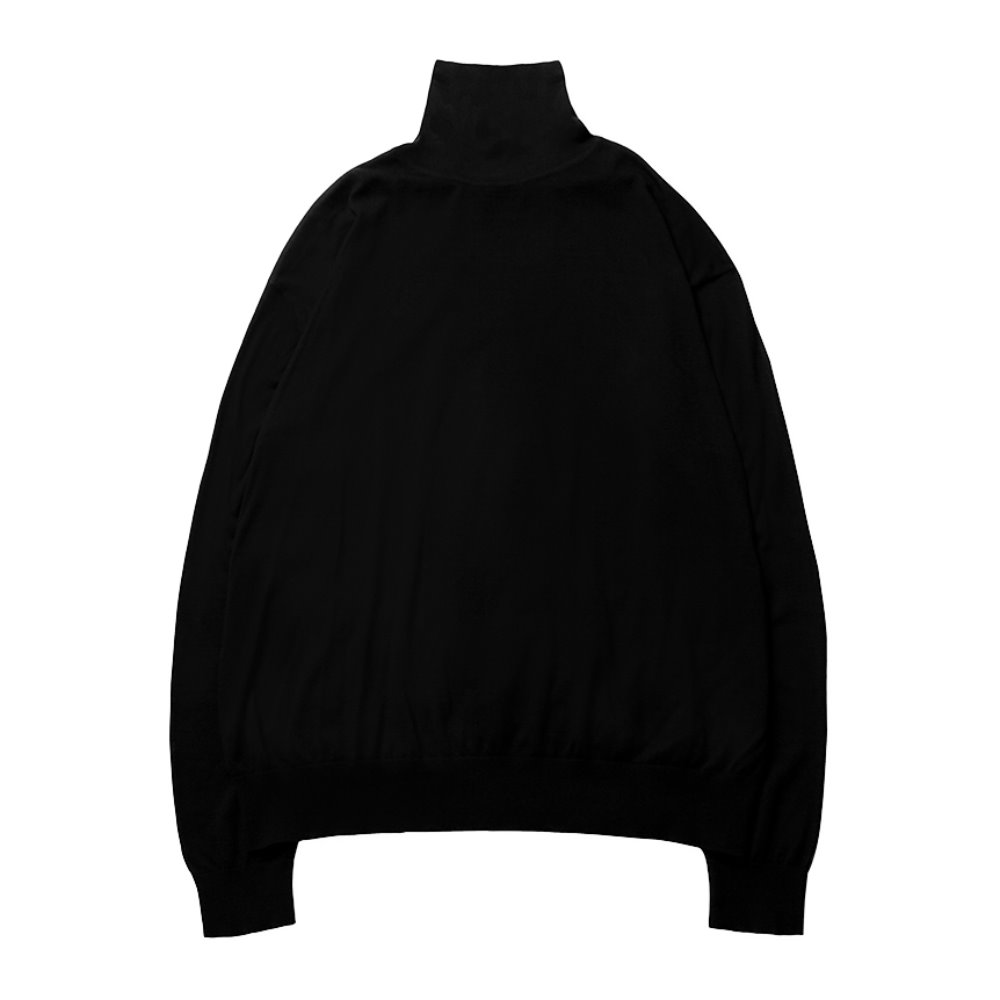 High Gauge Turtleneck - Black