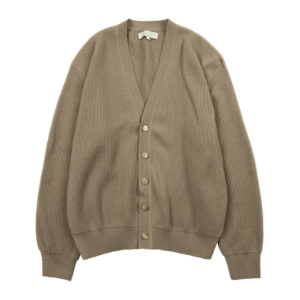Essential Cardigan - Dark Biege