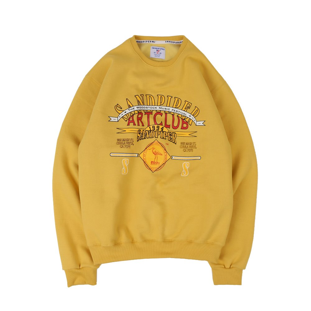 Art Club Sweat Shirts (Mustard)