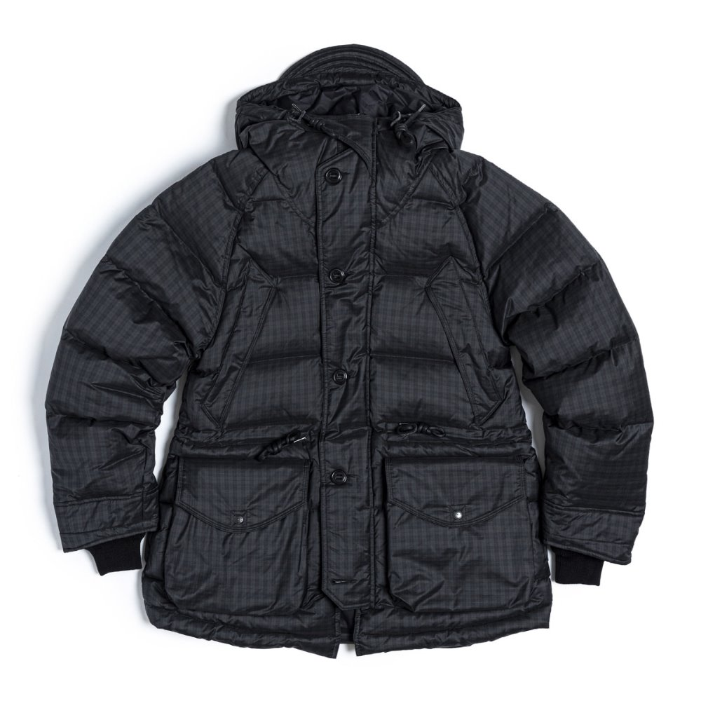 Utility Shield Parka (Black & Green Check)