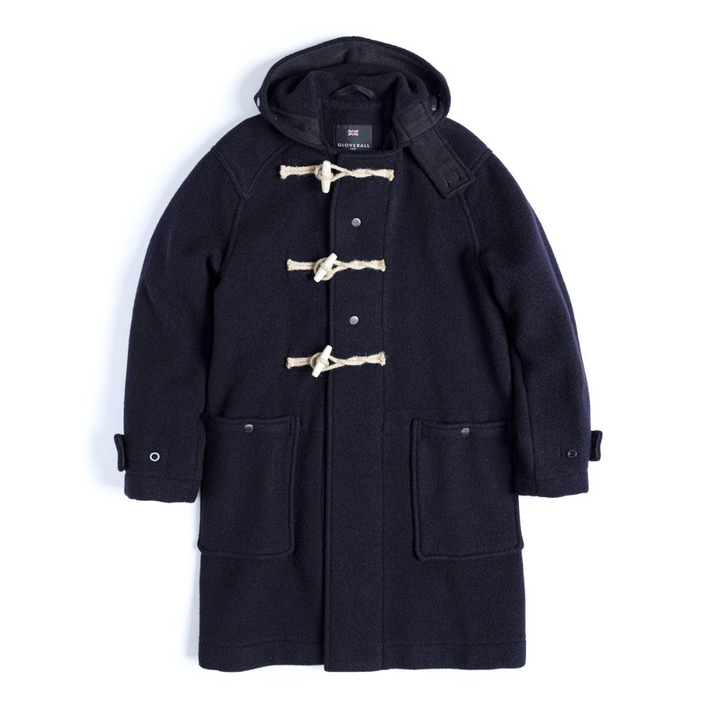 EASTLOGUE X GLOVERALL Monty Duffle Coat (Navy)