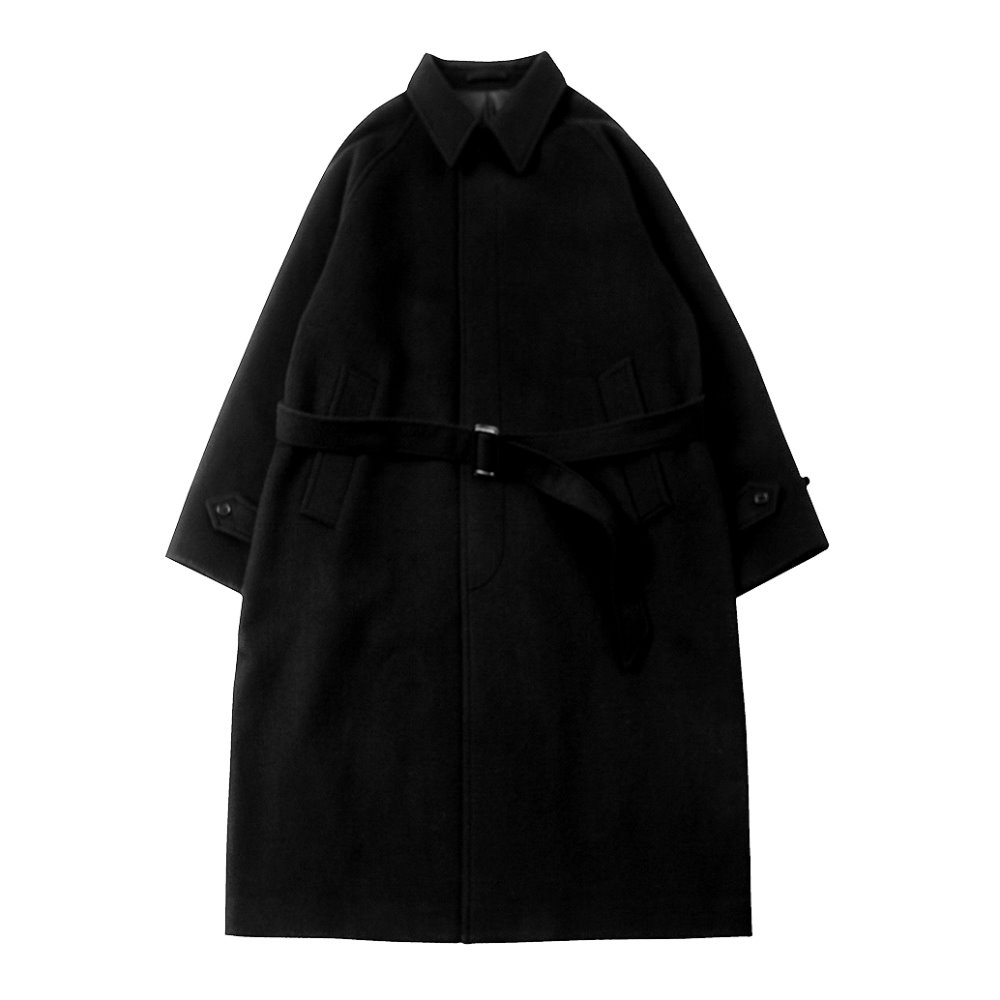 Balmacaan Coat (Black)