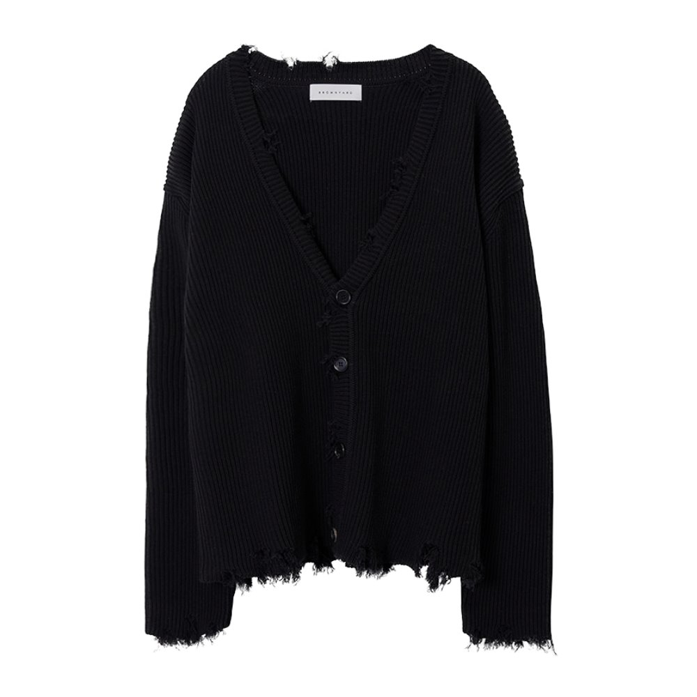 Damage Cardigan - Black