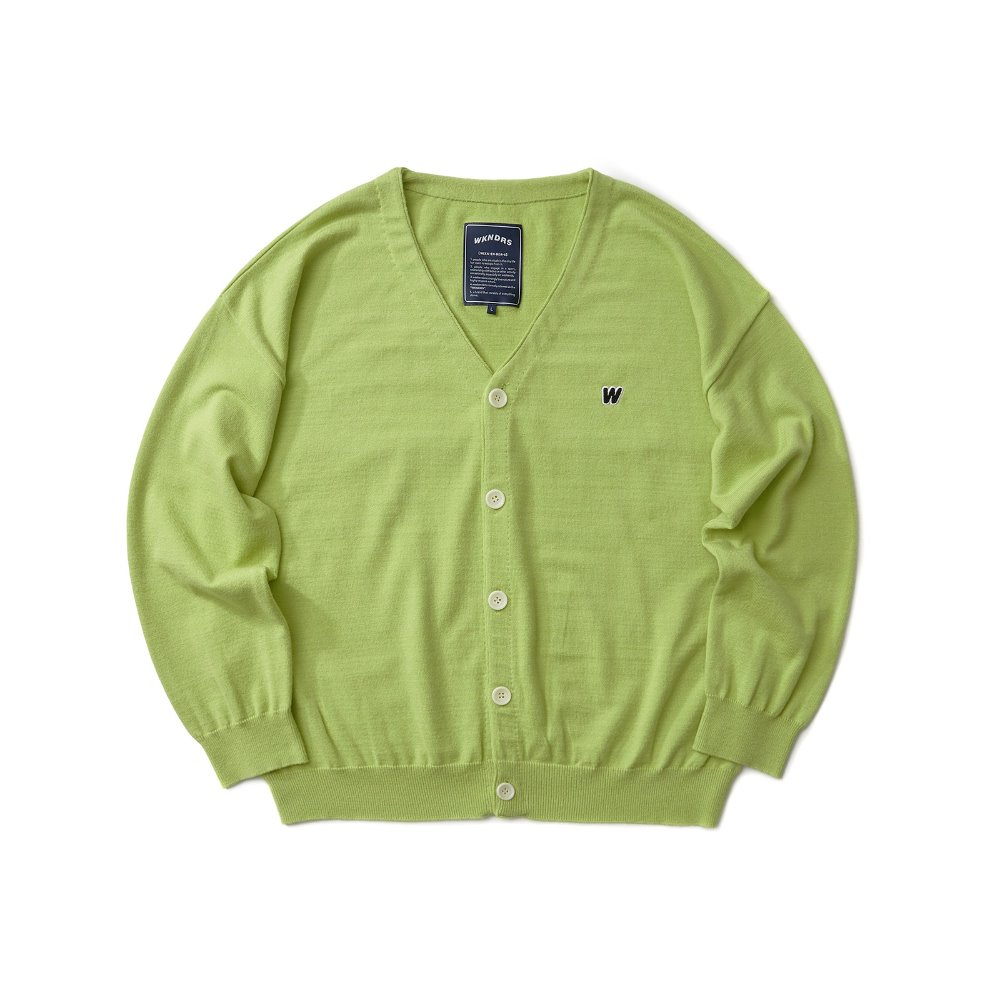 W Logo Cardigan - Green