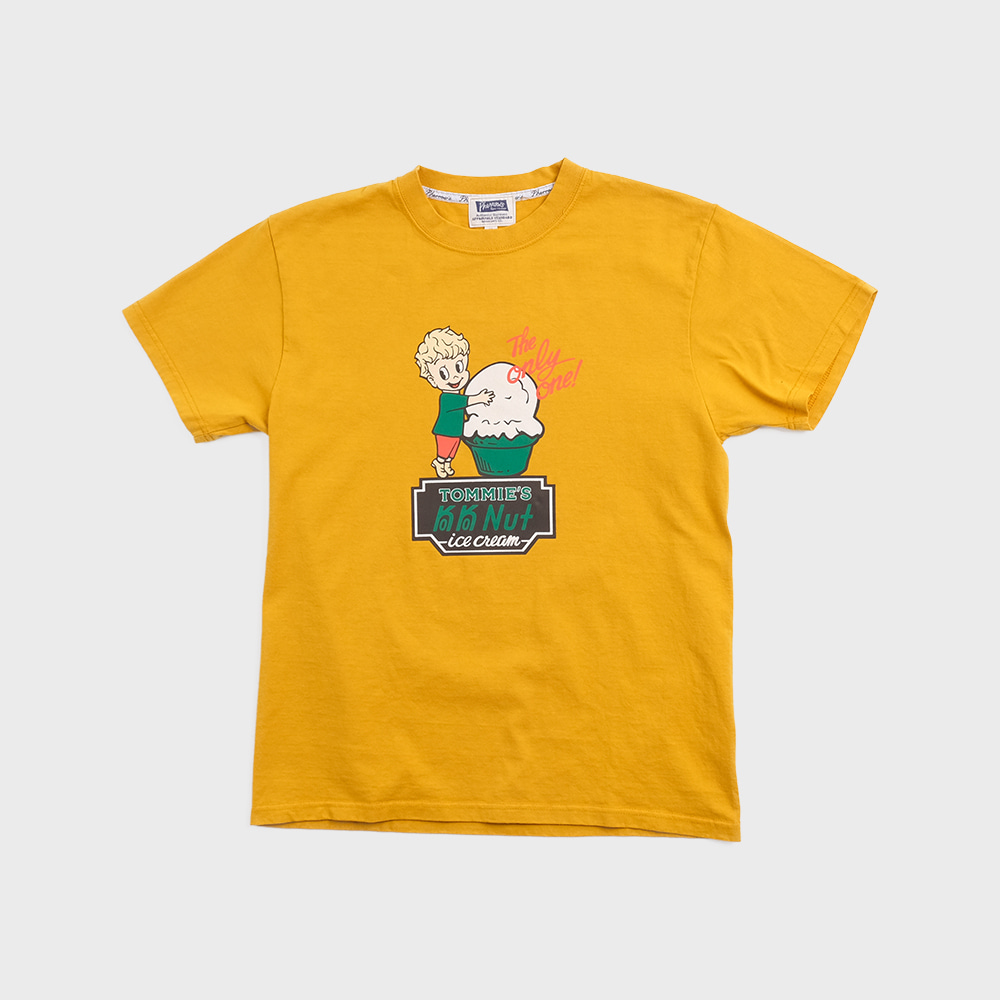 20S-PT8 Ice Cream S/S T-Shirts (Mustard)