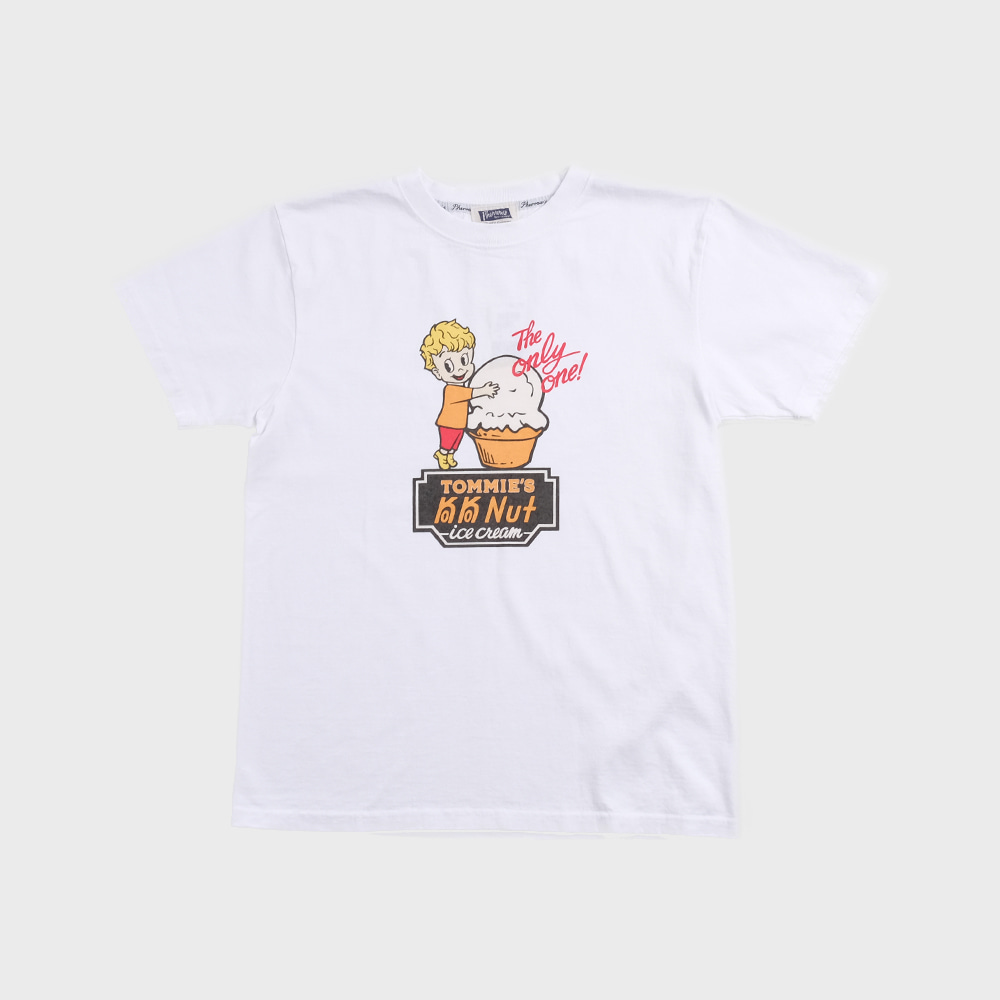 20S-PT8 Ice Cream S/S T-Shirts (White)