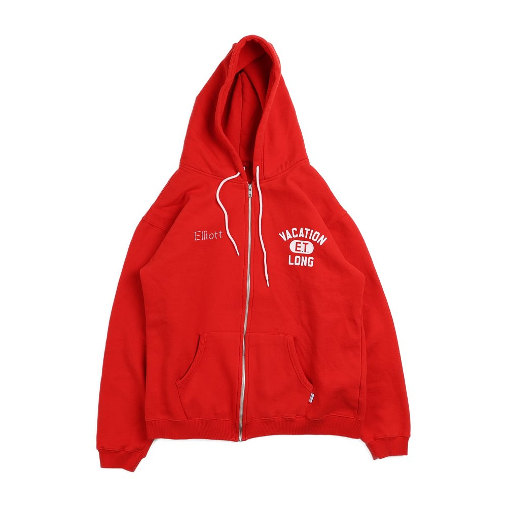E.T. Elliott hood zip up - Red