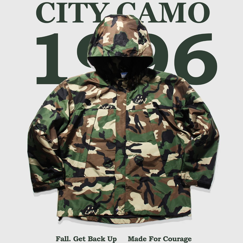 GO HOME CITY CAMO WIND PARKA - Woodland