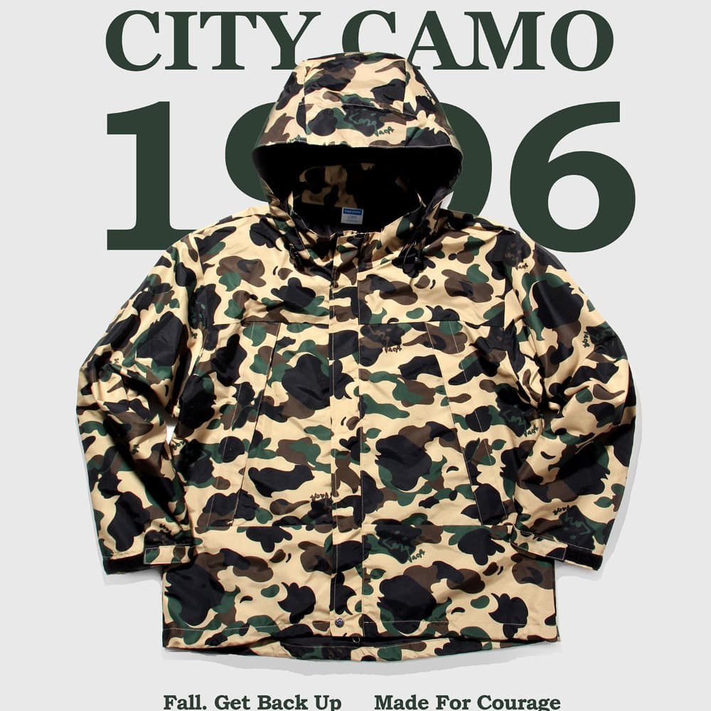 GO HOME CITY CAMO WIND PARKA - Duck Camo
