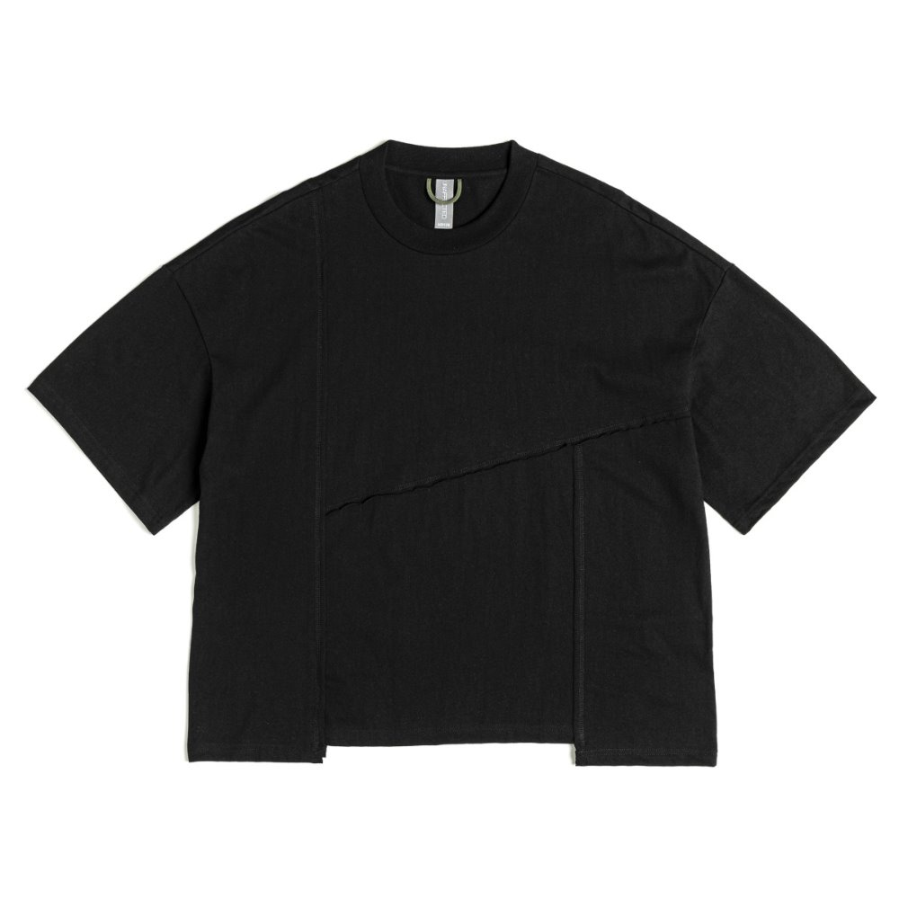 Contrast Stitch T-Shirts - Black