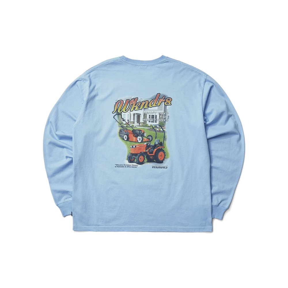 HEAVY TOYS LS T-SHIRT - S.Blue
