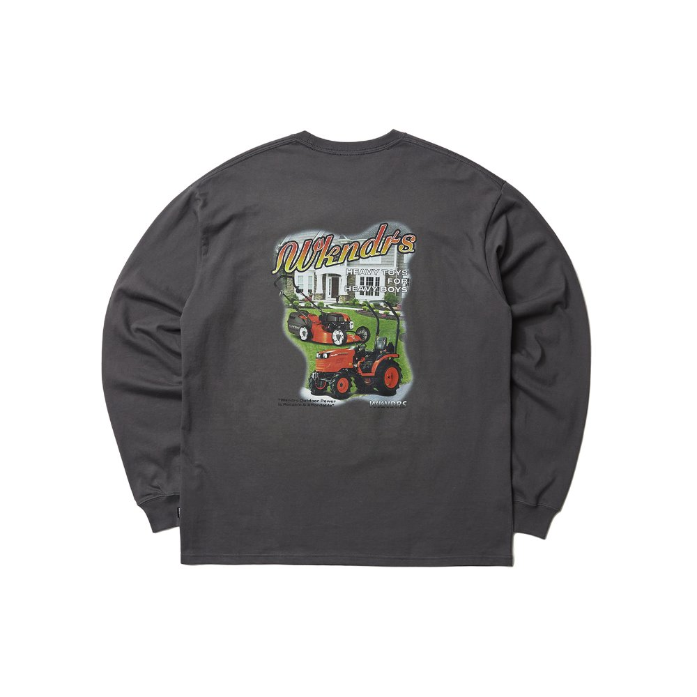 HEAVY TOYS LS T-SHIRT - Charcoal