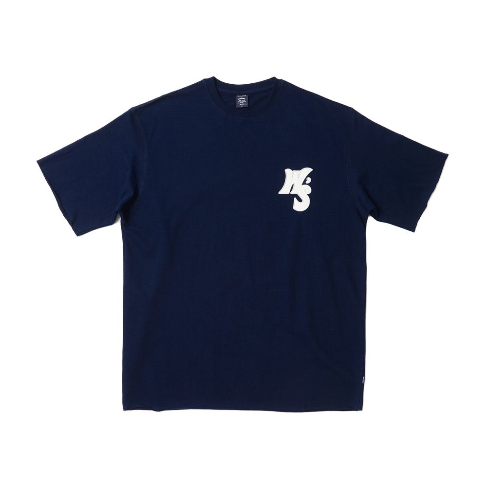 WS RAW EDGE SS T-SHIRT - Navy