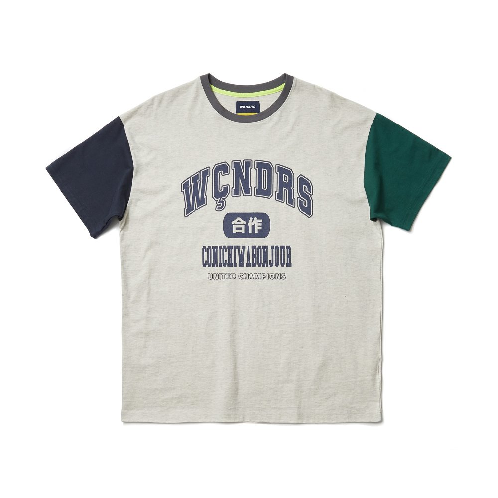 COLLEGE SS T-SHIRT - Grey