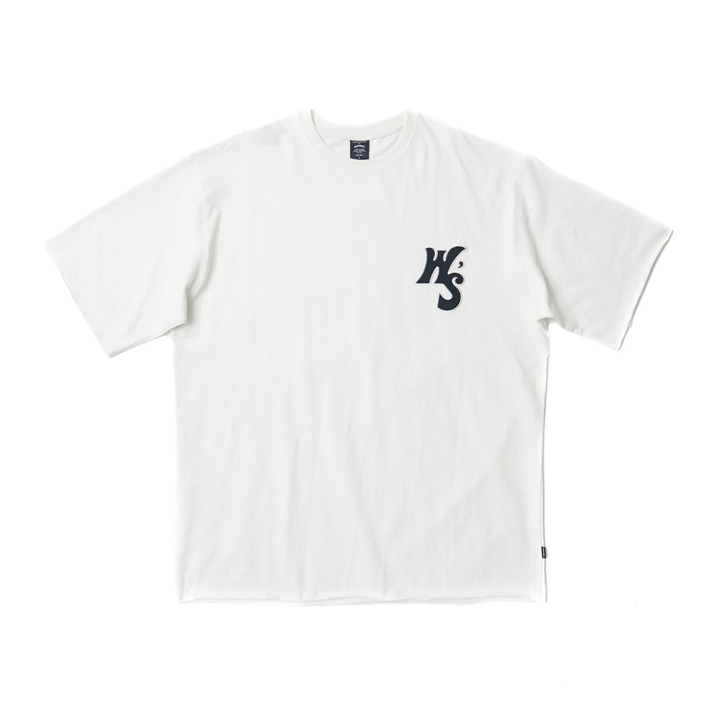 WS RAW EDGE SS T-SHIRT - White