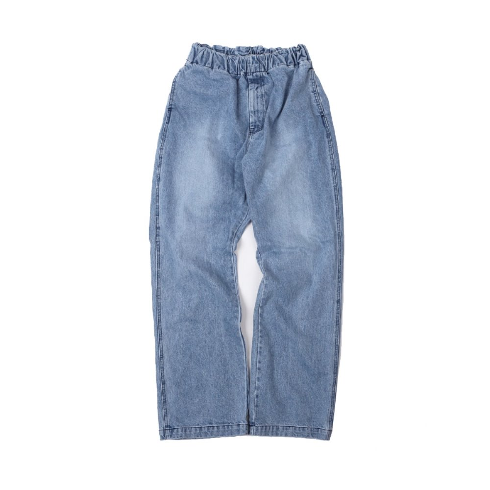 Wide Denim Easy Pants - Indigo