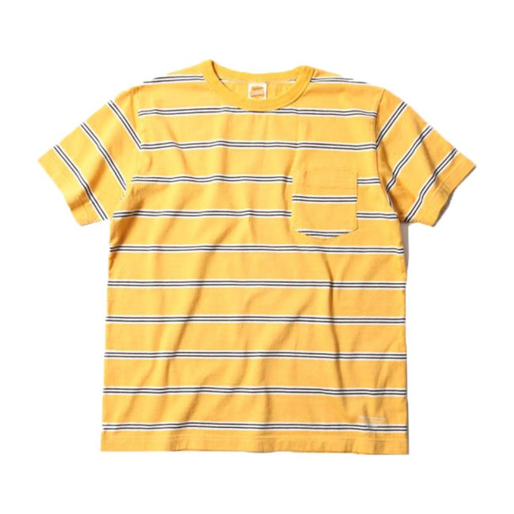 Multi Border Pocket S/S Tee - Yellow